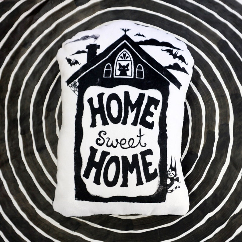 Home Sweet Home  Printed Pillow shape for your spooky home  image 0