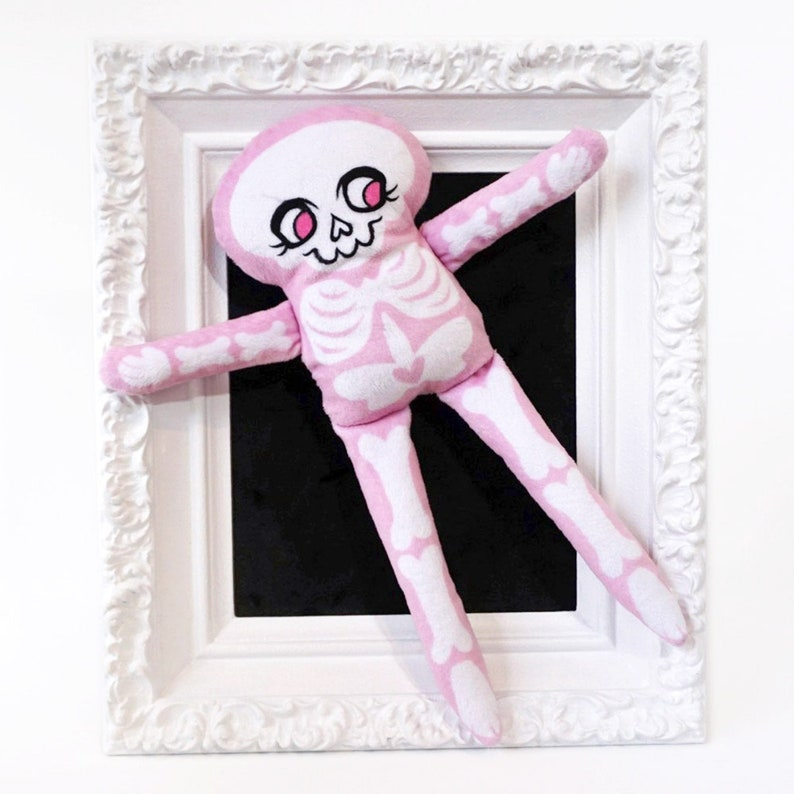 Pink Skeleton Doll made from super soft fabric image 0