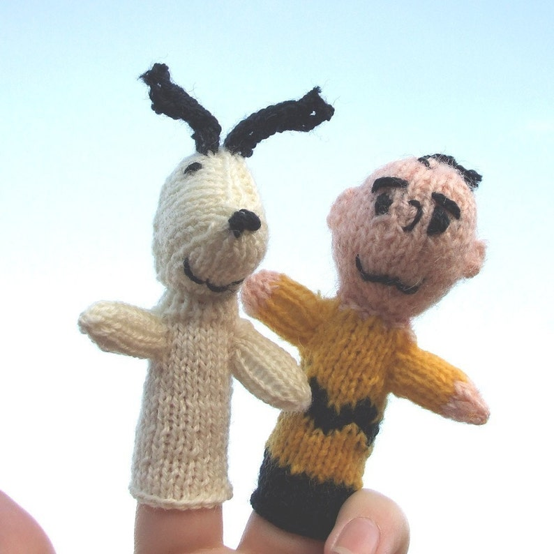 Charlie Brown and Snoopy Style Finger Puppet image 0