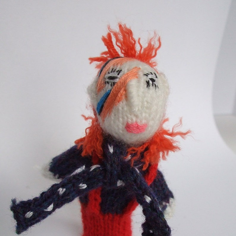 Ziggy Stardust Style finger puppet image 0