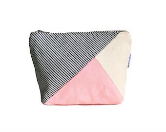 Makeup Bag, Canvas Zipper Pouch, Womens Toiletry Bag, Small Canvas Bag, Cute Makeup Bag