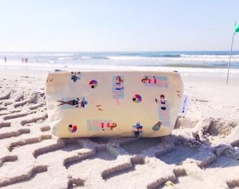 Toiletry Bag Women, Makeup Bag for Travel, Beach Bag, Beach Print, Wash Bag