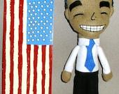 Handmade President Barack Obama 2012 doll