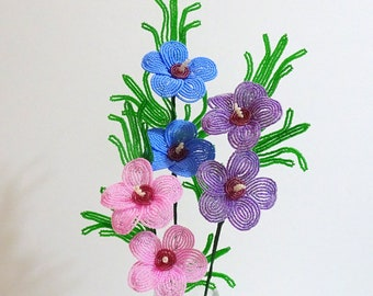 Beaded Flowers French Beaded Rose of Sharon, Common Hibiscus