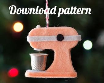 Kitchen Mixer Felt Ornament PDF PATTERN