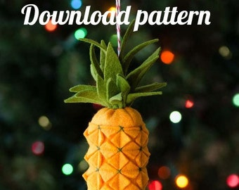 Pineapple Felt Ornament PDF PATTERN