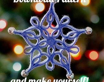 Filigree Snowflake Felt Ornament PDF PATTERN