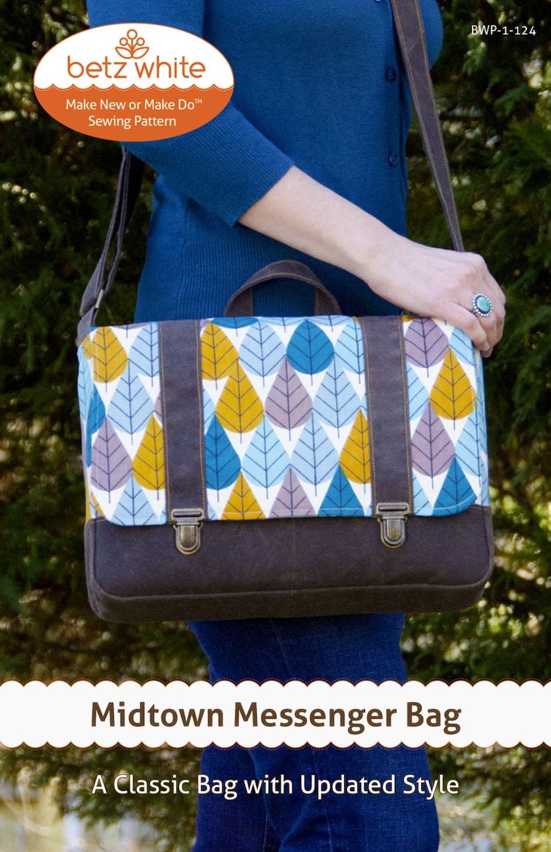 Midtown Messenger Bag PDF Sewing Pattern image 0