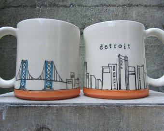 MADE TO ORDER ~ Detroit Mug