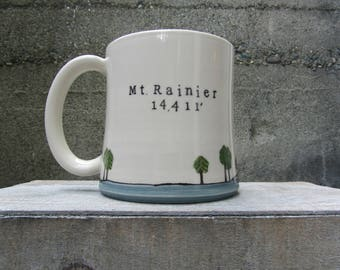 MADE TO ORDER ~ Mt. Rainier Mug