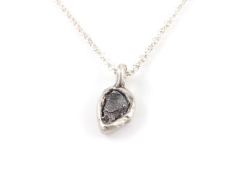 Meteorite Pendant in Sterling Silver - Made to order