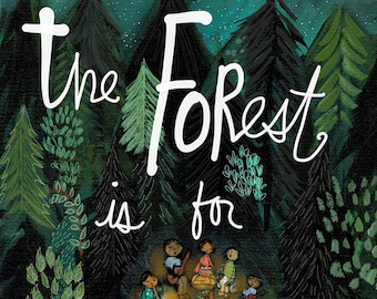 Forest Friends - Archival Print
