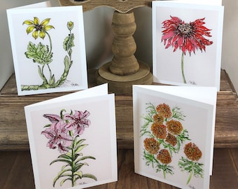 Spring Floral Blank Notecard Collection w Envelopes