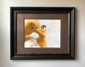 """8""""x10"""" Watercolor Print - """"He Reigns"""""""