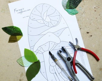 PATTERN - Stained Glass Pattern - Forage