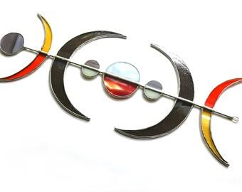 Lunar Stained Glass Suncatcher