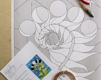 PATTERN - Stained Glass Pattern - Unfurling