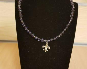 Small fleur de lis necklace