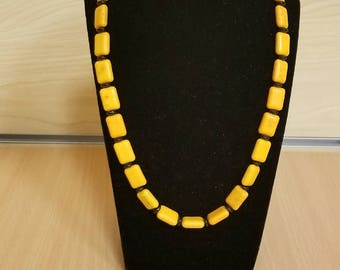 Yellow Howlite Necklace Set