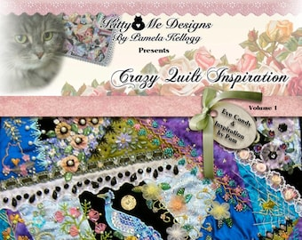Crazy Quilt Inspiration by Pam Book