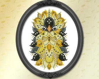 Cross Stitch Pattern Colorful Birds Goldfinch Printed Leaflet by Pamela Kellogg