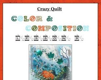 Crazy Quilt Block Pattern The Great Pumpkin by Pamela Kellogg