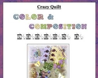 Crazy Quilt Block Pattern ThroughThe Grapevine by Pamela Kellogg
