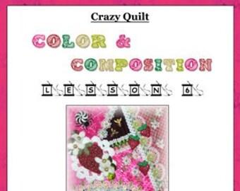 Crazy Quilt Block Pattern Strawberry Fields by Pamela Kellogg