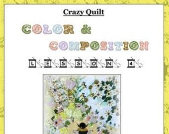 Crazy Quilt Block Pattern Flight Of The Bumblebee by Pamela Kellogg