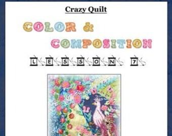 Crazy Quilt Block Pattern Proud As A Peacock by Pamela Kellogg