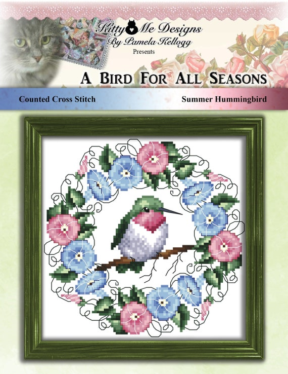 Summer wreath Counted Cross Stitch Kit CLASSIC DESIGN