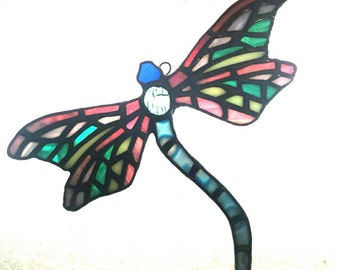 Dragonfly- Art Nouveau style Stained Glass