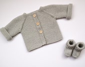 Hand Knit Baby Cardigan +...