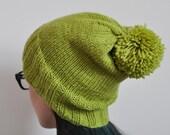 Handknit 100% Wool Pom Po...
