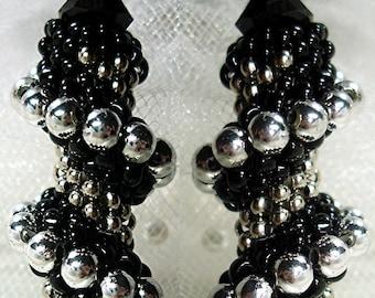 TUTORIAL TWISTER Beaded Crystal Earrings HOLLYWOOD