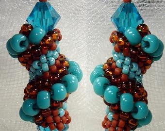 Tutorial TWISTER Beaded Crystal Earrings SOUTHWEST
