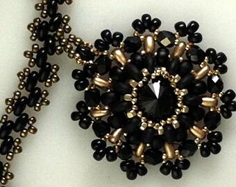 TUTORIAL for Twinning a Rivoli Crystal Seed Bead Pendant