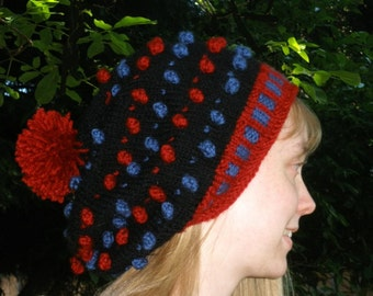 Bobble Bling Slouch Hat