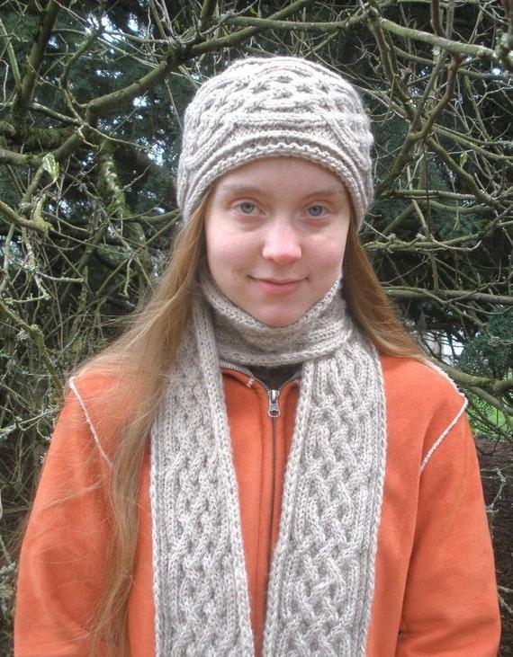 Pdf Knitting Pattern Saxon Braid Reversible Cabled Scarf Etsy