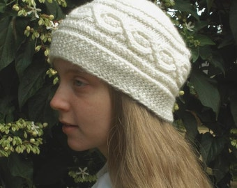 PDF Pattern, Bavarian Twist Short Row Cap