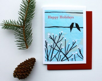 Happy Holiday Cards - Available in Singles or Boxed Sets