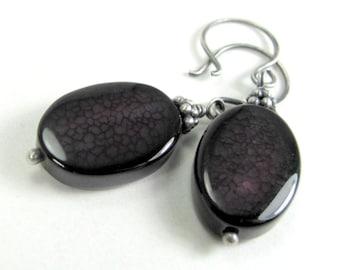 Agate Earrings in Purple
