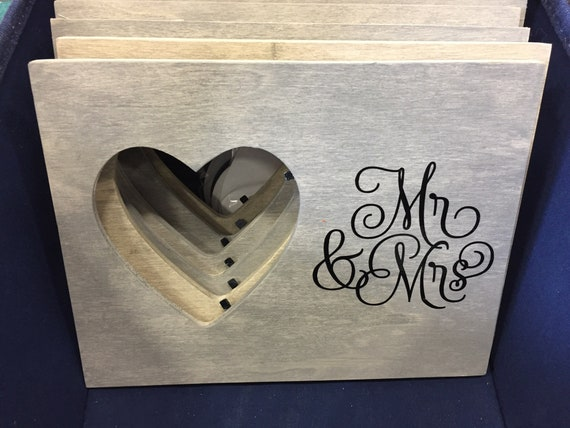 Wood Heart Frames With Saying Etsy