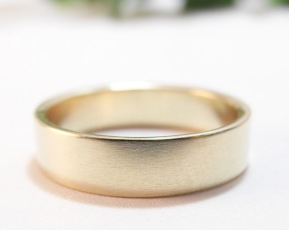 Simple Simple, Modern Silver Wedding Band For Men And Women - Varying Widths - Rose Gold, White Gold, Or Yellow Gold