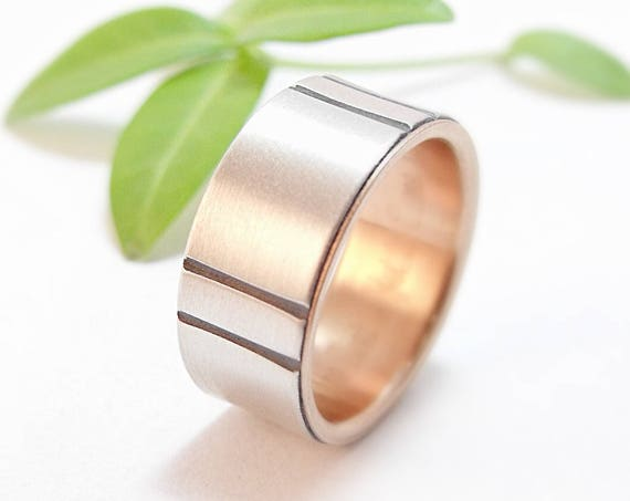 Kenzo Wedding Band - Wide, Simple, Wedding Ring For Men And Women