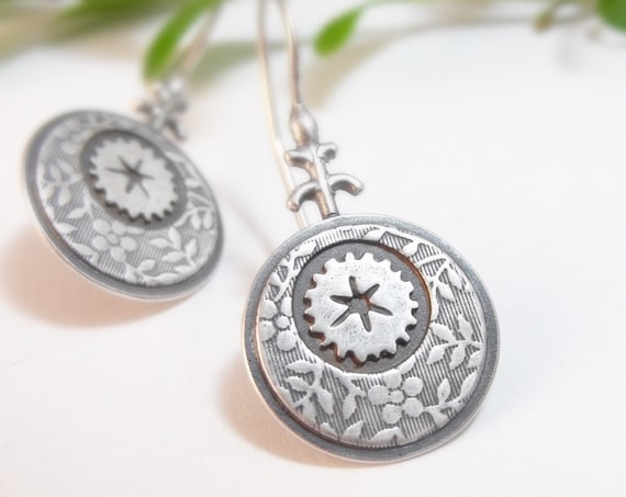 Sterling Silver Ottoman Earrings