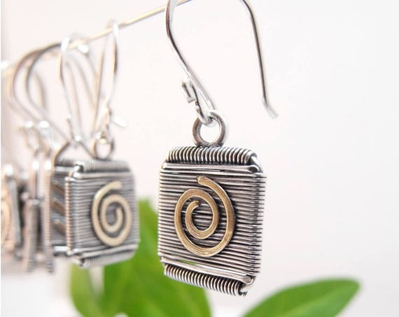 Free Domestic Shipping - Sterling Silver Earrings - Take Your Pick! Gifts For Her Holiday Gifts Holiday Wire Wrapped Gift Ideas Earrings