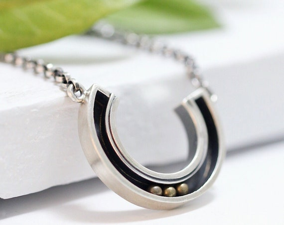 Handmade Kinetic Sterling Silver Pendant
