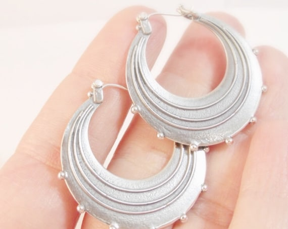 Sterling Silver Raindrop Hoops (Large)