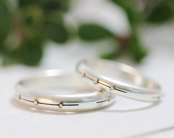 Sterling Silver Wedding Band, Womens Wedding Band, Mens Wedding Band Modern Wedding Ring Womens Wedding Ring Mens Wedding Ring Stacking Ring